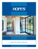 Field Installation Manual: Architectural Products